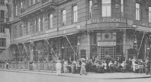 A Café Prückel egykor (Forrás: www.prueckel.at)