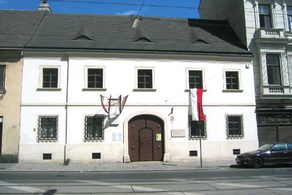 Schubert szülőháza (Forrás: Momus Magazin)