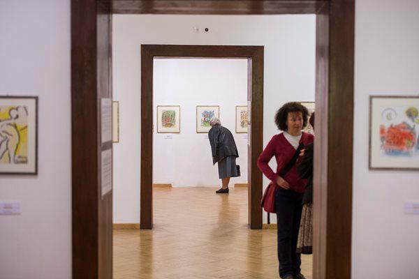 Chagall-kiállítás Pécsen (Fotó: Sóki Tamás, MTI)