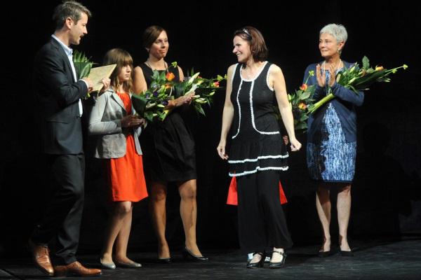 Szabella Mercedesz a Várkonyi-díj átadásán (Fotó: Szkarossy Zsuzsa)