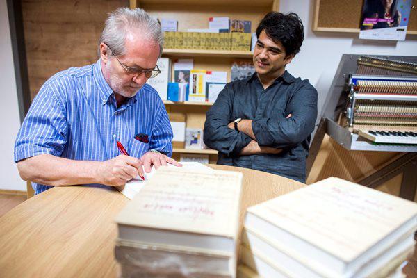 Eötvös Péter és Pedro Amaral (Fotó: Marjai János, MTI)