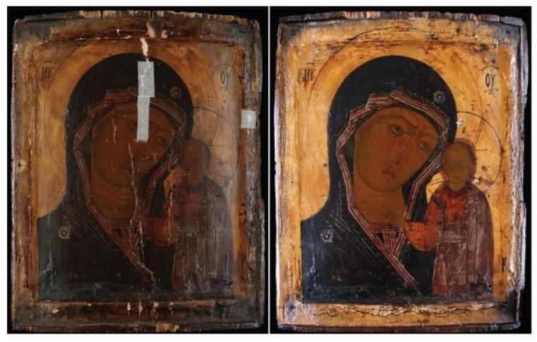 Az Istenszülő Kazányi ikonja, 18. sz. első fele