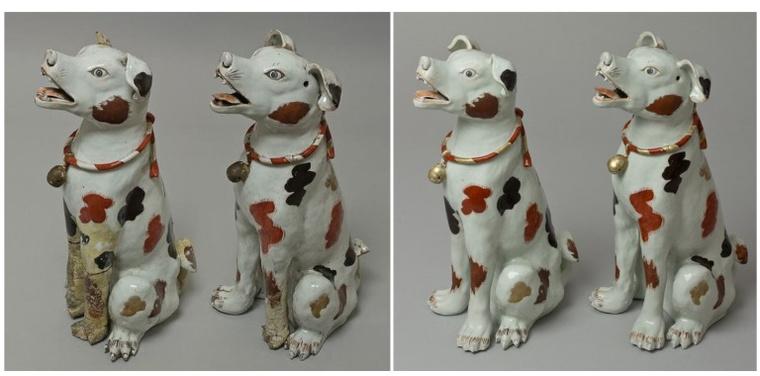 Japán kutyapár, 18. sz. eleje