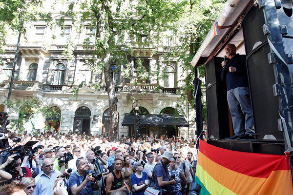 Fischer Iván - Budapest Pride 2015