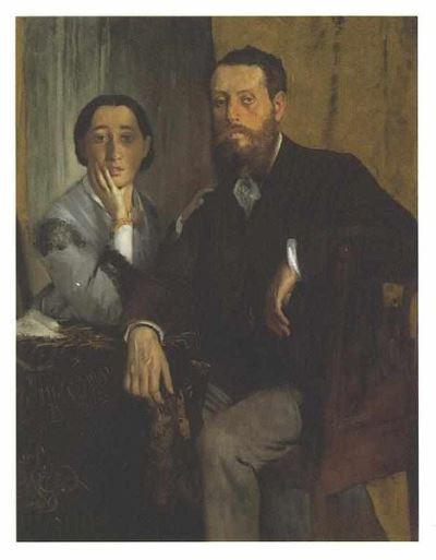 Manet és felesége portréja (1868), Municipal Museum of Art, Kitakjúsú, Japán (Forrás: Wikipedia)