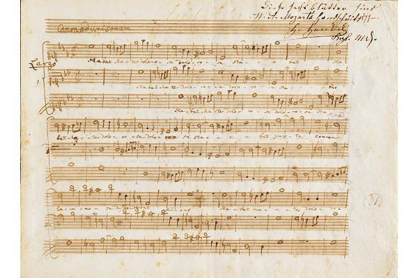 Mozart kézirat - Eugenio di Ligniville: Stabat Mater