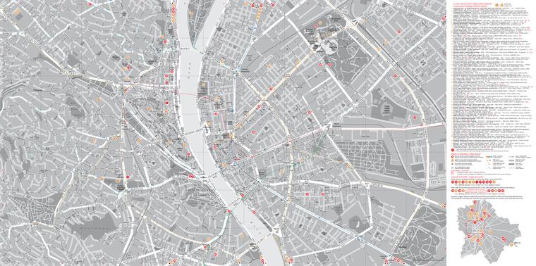 budapest utcái térkép Index   Urbanista   Budapest kortárs építészeti térképe budapest utcái térkép