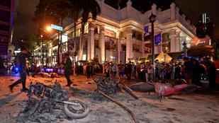 Robbanás Bangkokban: 12 ember meghalt, sok a sérült