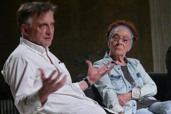 Mácsai Pál és Békés Itala a Fidelio Színházi Est közönségtalálkozóján