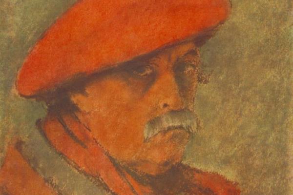 Rippl-Rónai József: Vörössapkás önarckép