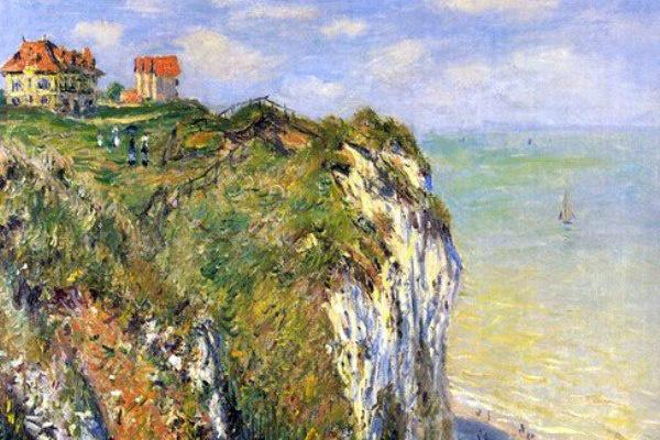 Claude Monet: Sziklás part Dieppe-nél (részlet)