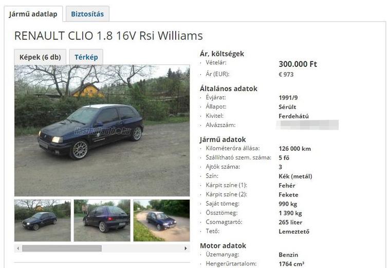 Mint típus, magasan uralja a mezőnyt a Clio 1.8 16V