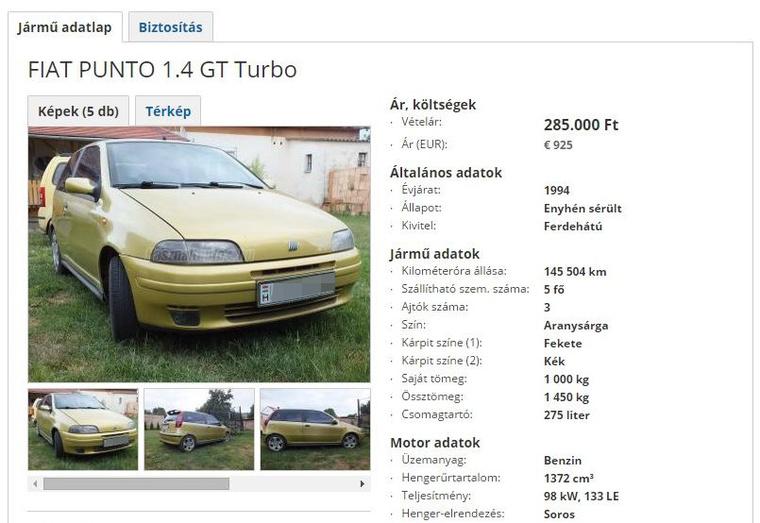 Mérges kis autó a Punto turbo is, bár egy feltöltő mindig súlyos rizikófaktor