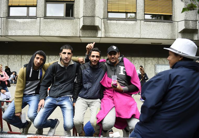 Szíriai menekültek Berlinben