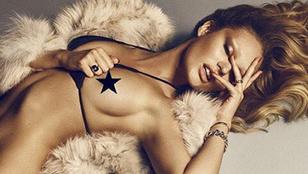 A bugyimodell Candice Swanepoel nagyjából meztelen