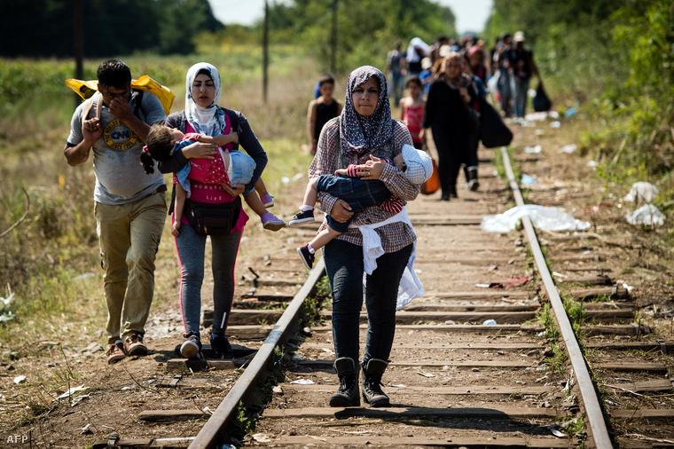 Menekültek a szerb-magyar határnál, Horgos közelében