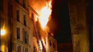 Nyolc ember halt meg egy párizsi lakástűzben