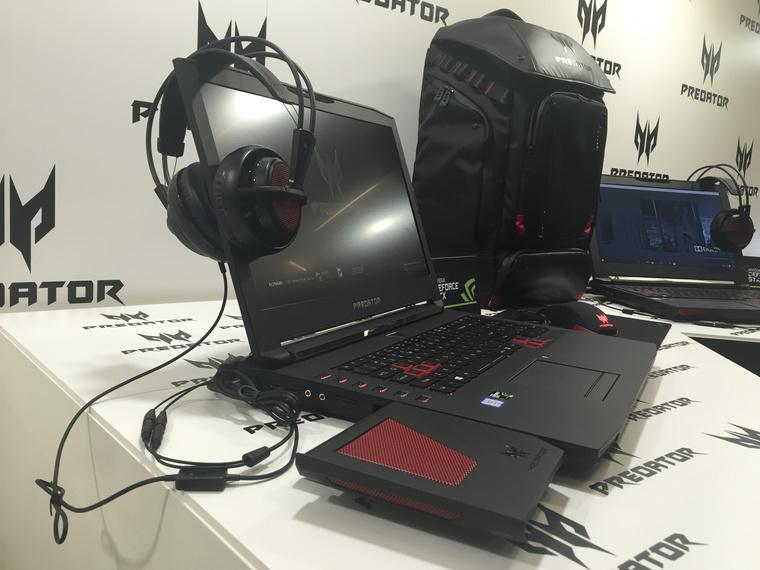 75fa5853ac9f Az Acer már tavasszal bemutatta a Predator laptopok és tabletek dizájnját,  de a New York-i rendezvényükön még nem állítottak ki működő gépeket.