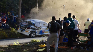 Hat ember halt meg egy spanyolországi raliversenyen