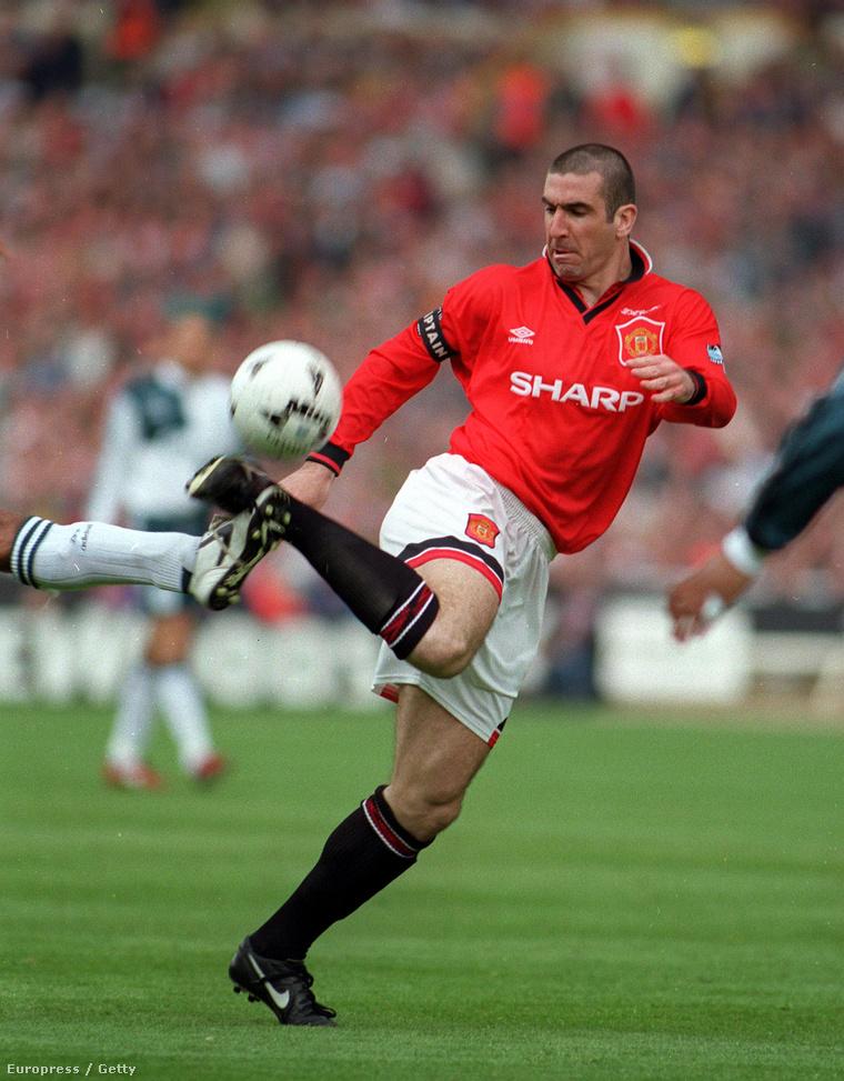 Eric Cantona a Manchester Unitedben.
