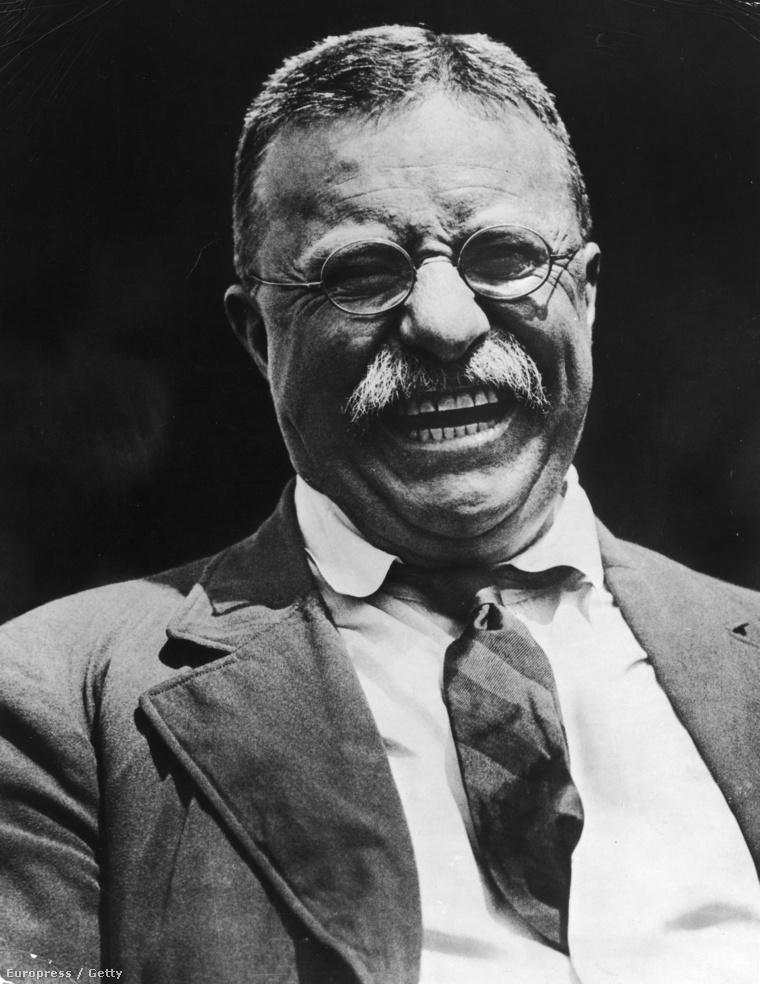 Theodore Roosevelt, amikor épp azt mondja: cheese