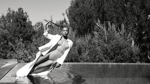 Beyoncé most egy medencénél szexiskedett bikiniben