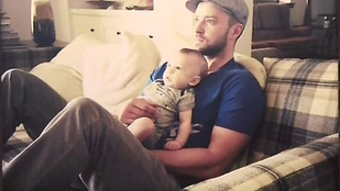 Justin Timberlake mutatott néhány fotót a fiáról