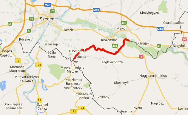 szerb magyar határ térkép Index   Belföld   A magyar román határon is lesz kerítés