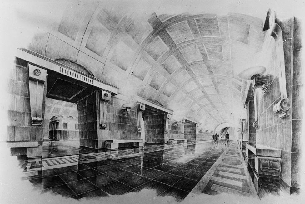 Az eredeti tervek szerint épp olyan díszes szocreál állomások kerültek volna a 2-es metró vonalára, mint amilyenek Moszkvában vannak. Ám 1954-ben lefújták az építkezést, és amikor a hatvanas években újból nekiláttak, már senkinek nem jutottak eszébe a divatjamúlt elképzelések. A szocreál álmokból egyedül a Népstadion megálló épülete készült el, ám az új tervekhez az sem illett, ezért később lebontották.