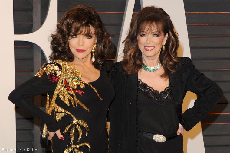 Jackie Collins (jobbra) és nővére, Joan Collins