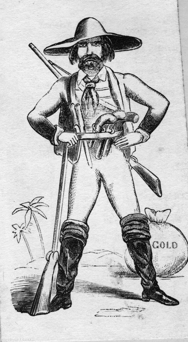 Kaliforniai aranyásó, 1849