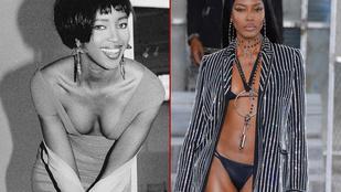 Naomi Campbell lassan 30 éve modellkedik, és még mindig csodálatos