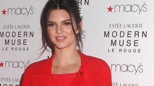 Kendall Jenner a csúnyájáig sliccelt ruhában örült  a világnak