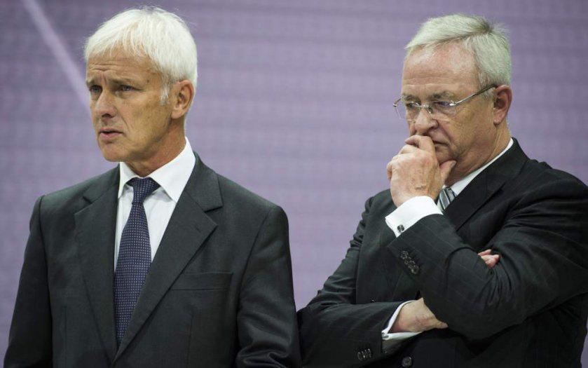 Dr. Martin Winterkorn (jobbra) és lehetséges utódja, Mathias Müller