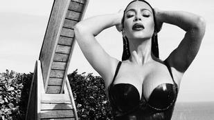 Kardashian túl szűk latexruhákból buggyantotta ki mindenét