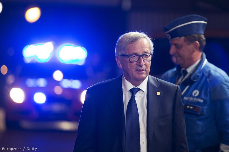 Jean-Claude Juncker bizottsági elnök Brüsszelben, 2015. szeptember 24-én.