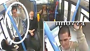 Ez az ember csúnyán összevert valakit a 30-as buszon