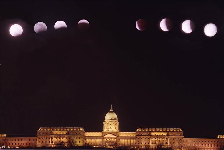 Holdfogyatkozás a budai vár felett 2001. január 10-én